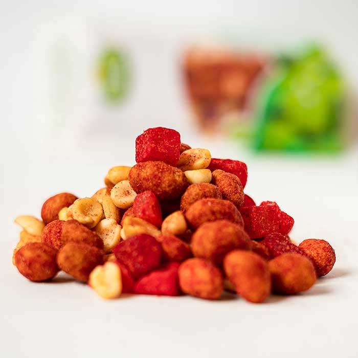Mezcla pika fruti botana saludable