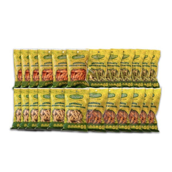 Caja Exhibidora 24 pzas Churritos de Amaranto