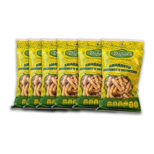6 piezas Churritos de Amaranto Multifibra con Limon y Sal 70g
