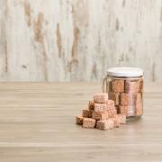 Cuadritos de amaranto con chocolate lechero
