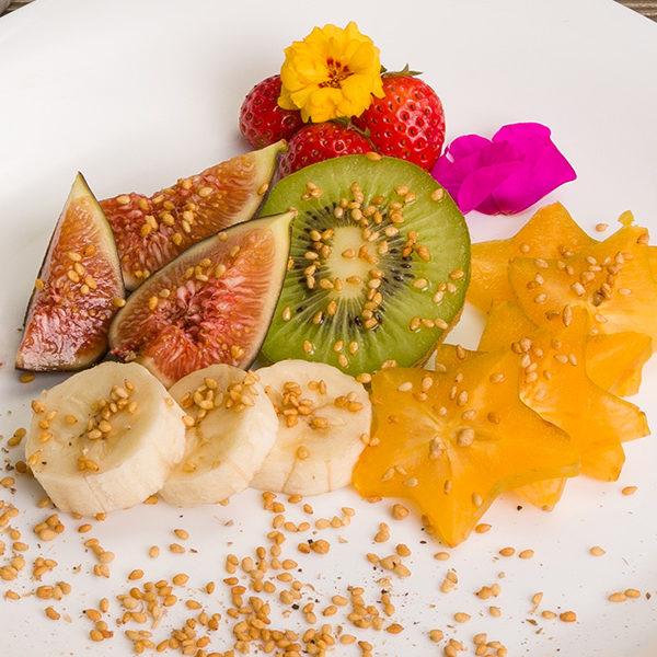 Ensalada de Fruta - Ajonjoli Garapinado