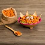 Deep frijol con totopos - Maiz con Queso